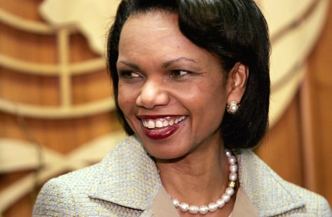 Condoleezza Rice Meets With Kofi Annan
