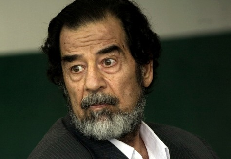 Image: Saddam questioned in court