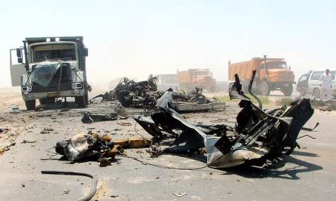 IMAGE: Vehicle debris in Baghdad