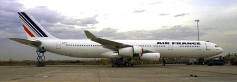 An undated file photo of an Air France Airbus A340-300 aircraft