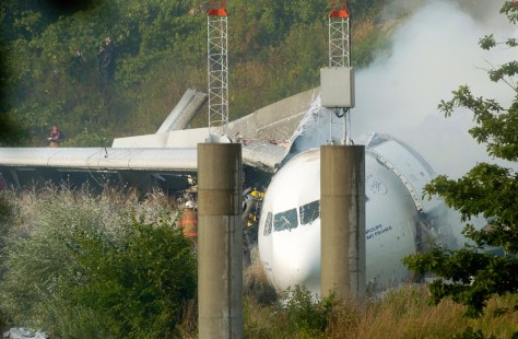 IMAGE: WRECKAGE OF AIR FRANCE JET