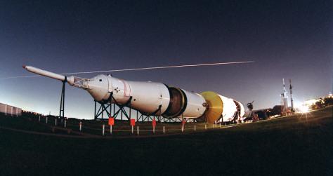 Image: Space shuttle streak