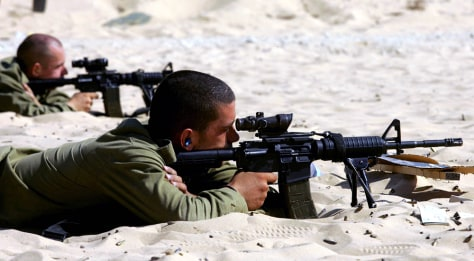 IMAGE: Israeli soldiers train