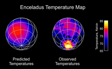 temperature map for Enceladus
