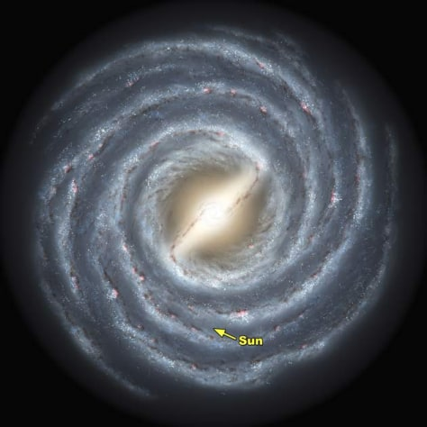 An artist's rendering of the Milky Way
