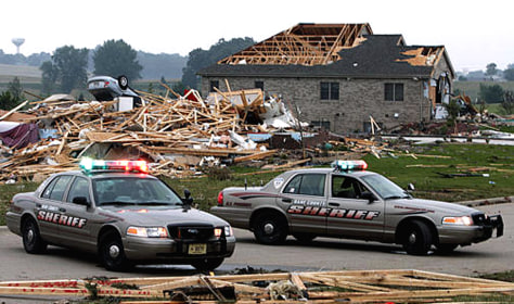 IMAGE: HOMES HIT BY TORNADO