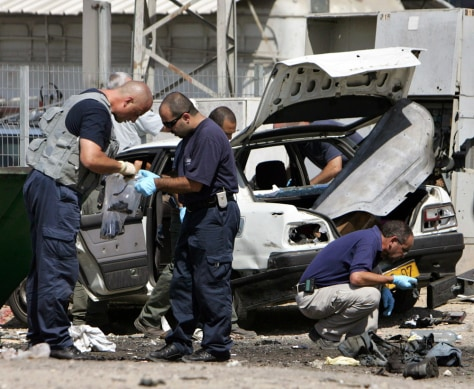 IMAGE: After the blast in Beersheba