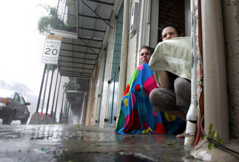 IMAGE: RIDING OUT THE HURRICANE IN NEW ORLEANS