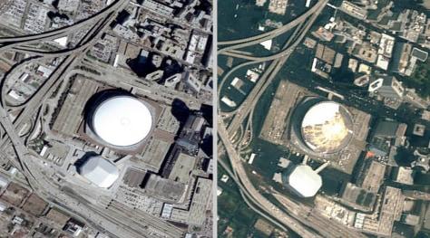 Military civilian satellites aid Katrina relief Technology