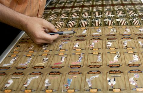 Image: Baseball trading cards