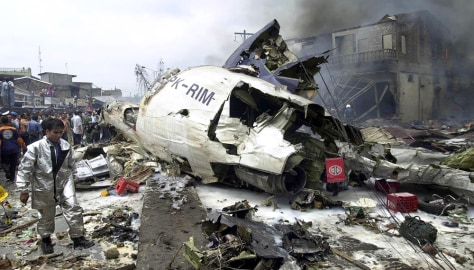 Image: Indonesian plane crash wreckage