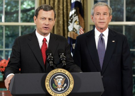 IMAGE: Roberts and Bush