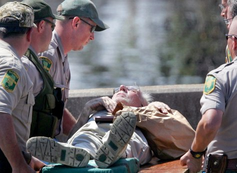 A New Orleans man is rescued by Illinois conservation police.