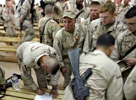 National Guard soldiers in Kuwait