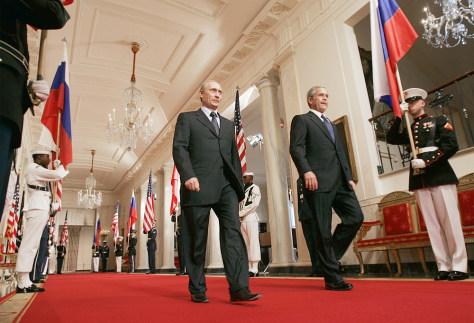 Image: Bush, Putin