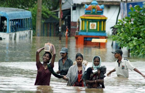Image: India floods.