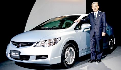 Japan's auto giant Honda Motor president