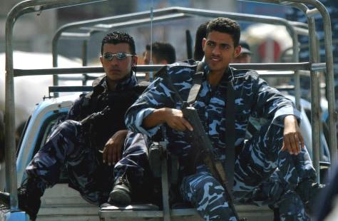 IMAGE: Palestinian police on patrol