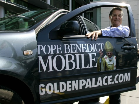 IMAGE: GoldenPalace.com CEO Richard Rowe and the car