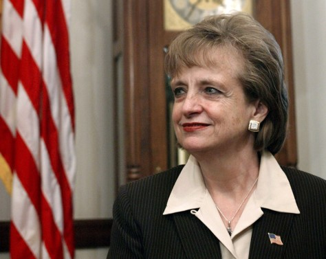 Supreme Court nominee Harriet Miers meets with Sen. Charles Grassley on Capitol Hill