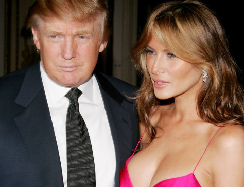 Image: Donald Trump and wife Melania.