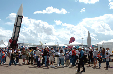 visitors at rocket show