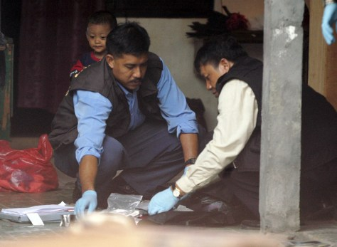 Image: Indonesian forensics team.