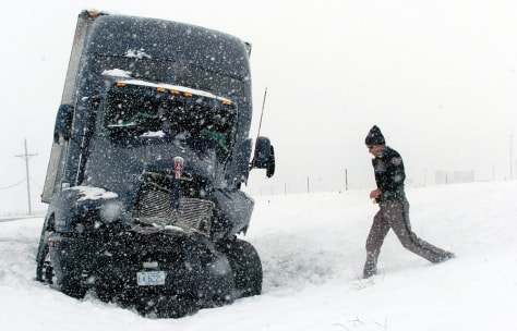 IMAGE: TRUCK STUCK IN SNOW IN COLORADO