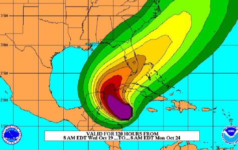 Image: TS wind forecast for Wilma