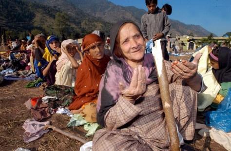 IMAGE: Pakistan earthquake survivors