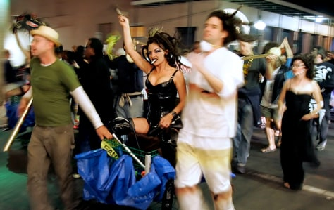 Image: Halloween parade in French Quarter
