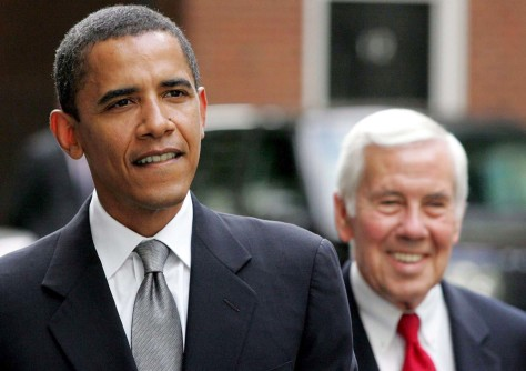 BRITAIN BLAIR LUGAR AND OBAMA