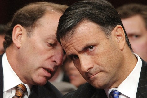 Image: Jack Abramoff, right, with his attorney Abbe Lowell on Capitol Hill.