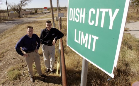 DISH city limit sign unveiled