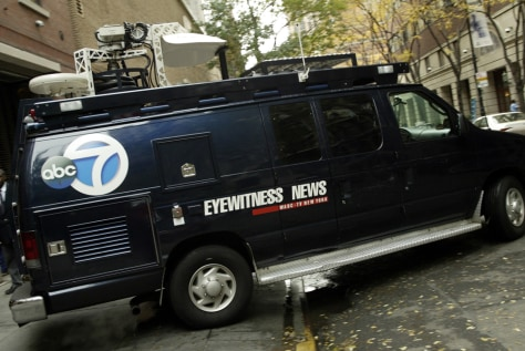 news truck with global positioning system installed