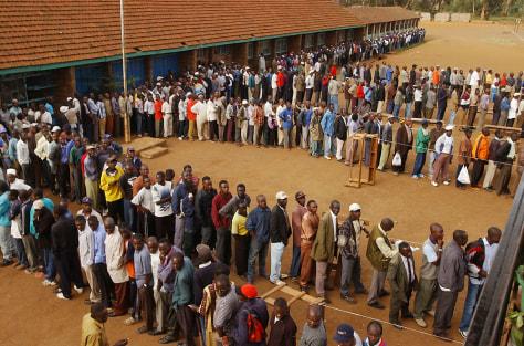 Image: Kenyans voting
