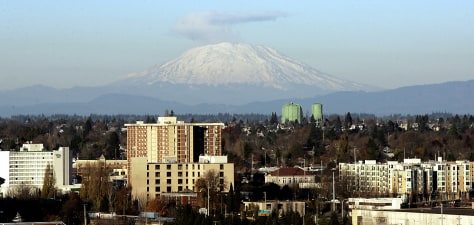 Image: St. Helens as seen from Portland