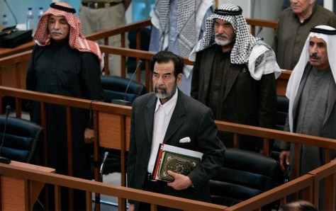 IMAGE: Saddam Hussein and co-defendants