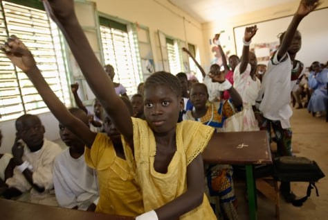 Image: Senegalese students
