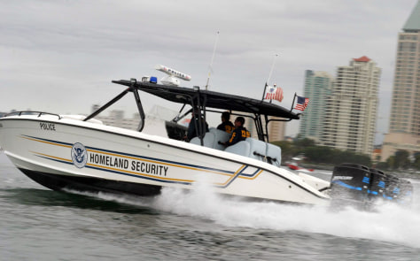 Image: U.S. Customs patrol boat