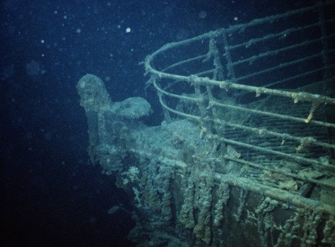 Titanic underneath the sea