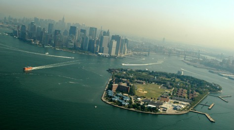 New York City Seen from the Fuji Blimp