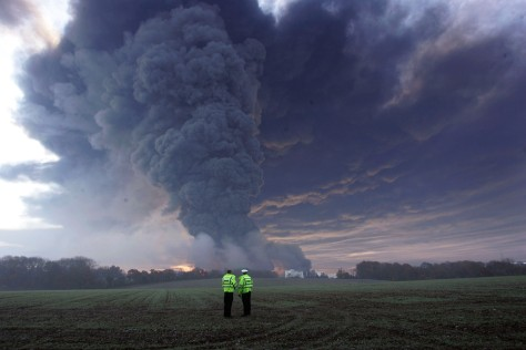 Image: Huge blast rips through oil storage depot.