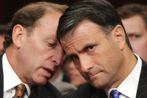 Image: Jack Abramoff listens to his attorney Abbe Lowell.