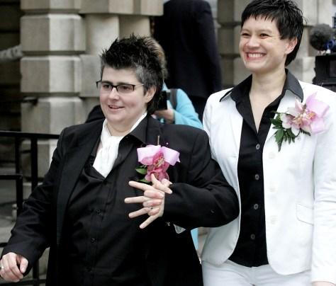 Image: First civil partnership
