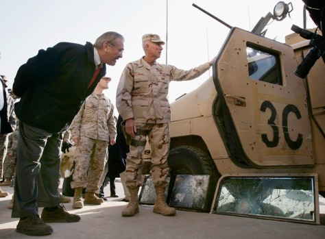 Image: Donald Rumsfeld visits Iraq.