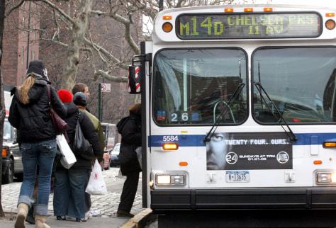 Image: Bus passengers