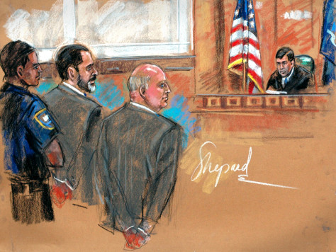 Court sketch of Tyco trial in New York
