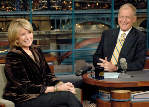 Martha Stewart, David Letterman