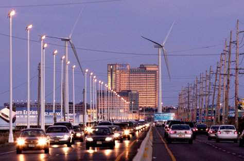 IMAGE: WIND TURBINES IN ATLANTIC CITY